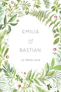 Tischkarten Hochzeit Waldgeflüster grün