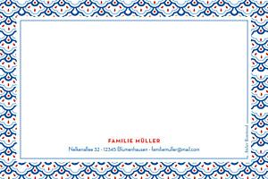 Grußkarten Pattern blau