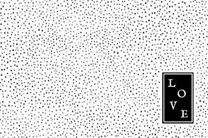 Grußkarten Little dots schwarz & weiß