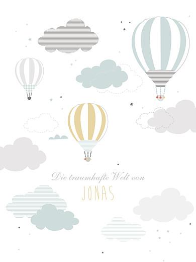 Poster klein In den wolken blau - Seite 1
