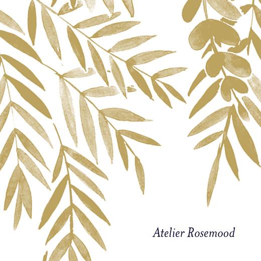 Anhänger Hochzeit Blättertraum gold