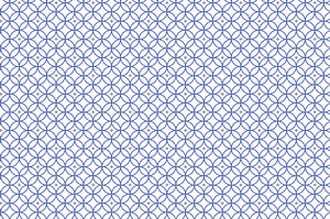 Grußkarten Rosette blau