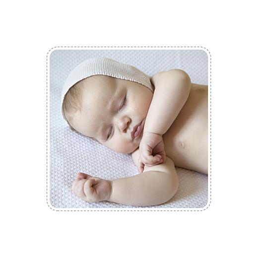 Geburtskarte Sternenband 2 fotos (gold) grau