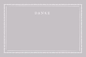 Grußkarten modern punkte graubraun