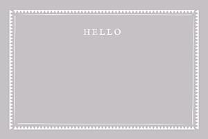 Grußkarten modern zig zag graubraun