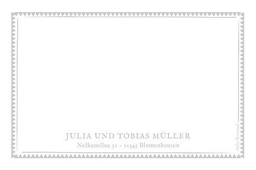 Grußkarten Zig zag graubraun - Seite 2