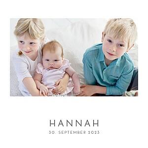Geburtskarte Elegant herz (gold) weiß