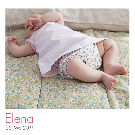 Geburtskarten Portfolio 3 fotos weiß