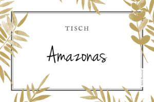 Tischkarten Hochzeit Blättertraum gold