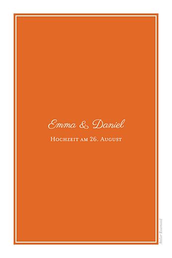Tischkarten Hochzeit Carré chic orange - Seite 2