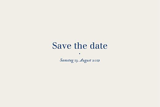 Save-the-Date Karten Naturnah (gold) blau