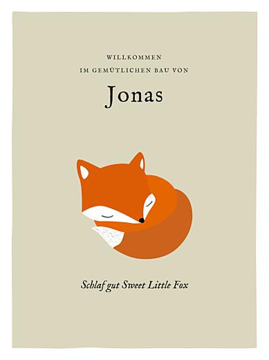 Poster groß Fuchs beige & orange - Seite 1