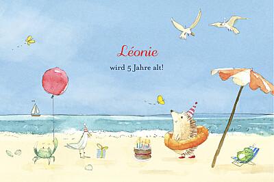 Geburtstagskarten Kinder Sommermärchen blau finition