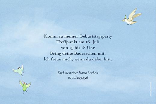 Geburtstagskarten Kinder Sommermärchen blau - Seite 2
