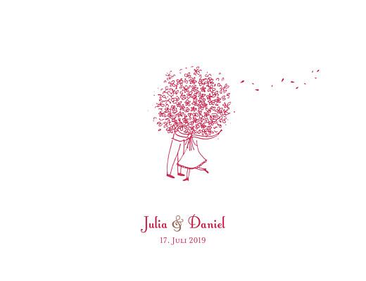 Hochzeitseinladungen Blumenstrauß rot