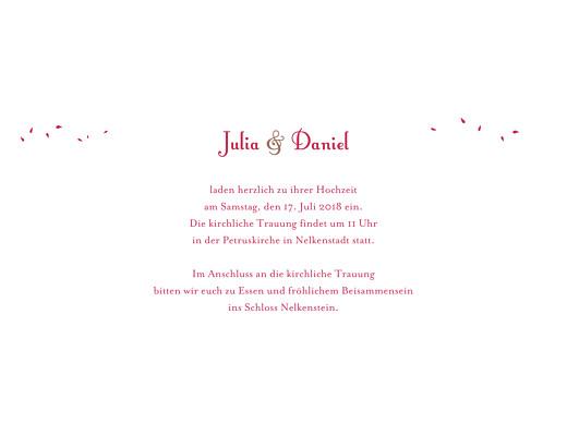 Hochzeitseinladungen Blumenstrauß rot - Seite 3