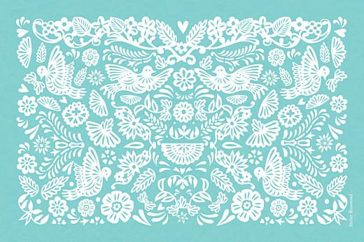 Tischkarten Hochzeit Papel picado türkis - Seite 2