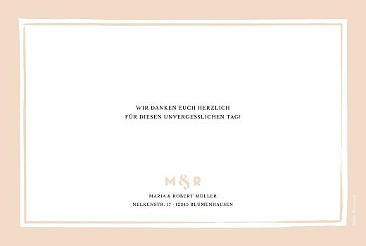Dankeskarten Hochzeit Glänzend rosa
