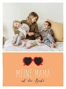 Poster klein Mama cool orange