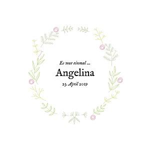 Geburtskarten Blütenzauber klappkarte (gold) weiss rosa
