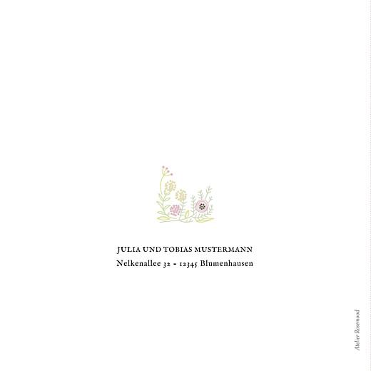 Geburtskarte Blütenzauber klappkarte (gold) weiss rosa