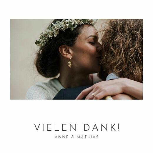 Dankeskarten Hochzeit Elegant herz (gold) weiß