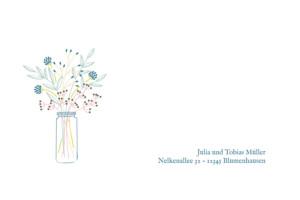 Grußkarten Blütenzauber weiss