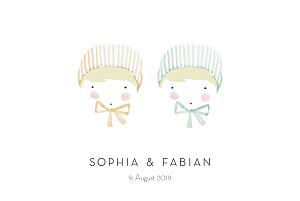 Geburtskarten zwillinge rotbäckchen zwillinge blond