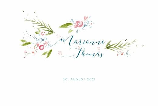 Hochzeitseinladung Frühlingshauch klappkarte weiß
