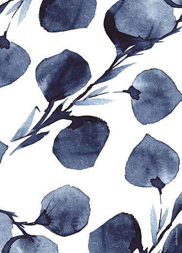 Kirchenheft Hochzeit Blütenblätter blau