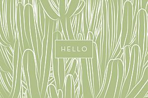 Grußkarten Kaktus grün