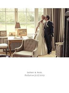 Kleine Poster Hochzeit Unsere hochzeit hoch weiß