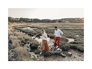 Kleine Poster Hochzeit Souvenir lang weiß