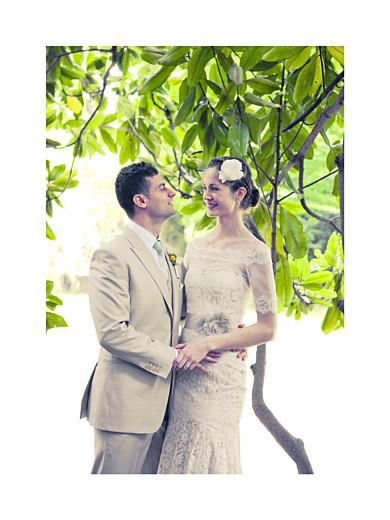 Kleine Poster Hochzeit Souvenir hoch weiß - Seite 1