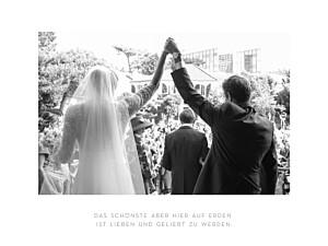 Kleine Poster Hochzeit Elegant lang weiß