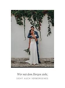 Kleine Poster Hochzeit Elegant hoch weiß