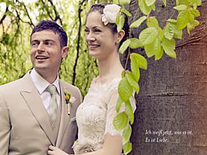 Kleine Poster Hochzeit Unser hochzeitstag lang weiß
