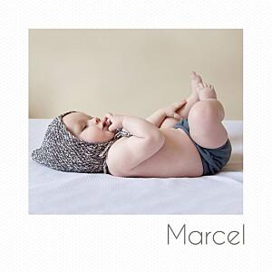 Geburtskarten weiß polaroid (mini) weiß