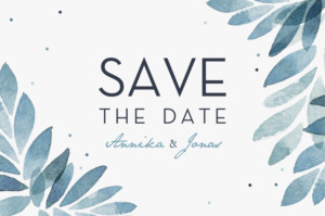 Save-the-Date Karte Sommernacht blau