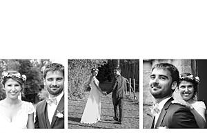 Dankeskarten Hochzeit Zeitgeist (gold) weiß