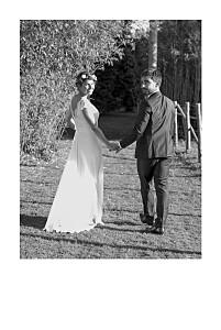 Dankeskarten Hochzeit 1 foto hoch (gold) weiß