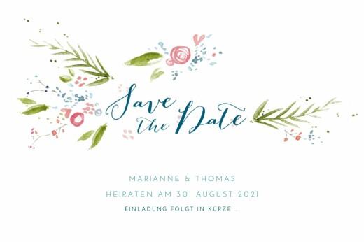 Save-the-Date Karten Frühlingshauch weiß