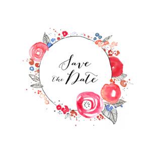 Save-the-Date Karte Blütezeit weiß