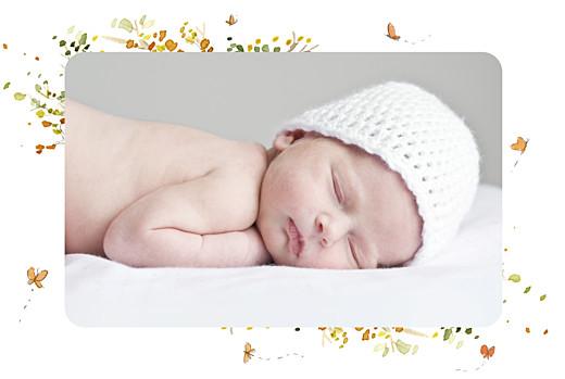 Geburtskarte Herbstmärchen grün