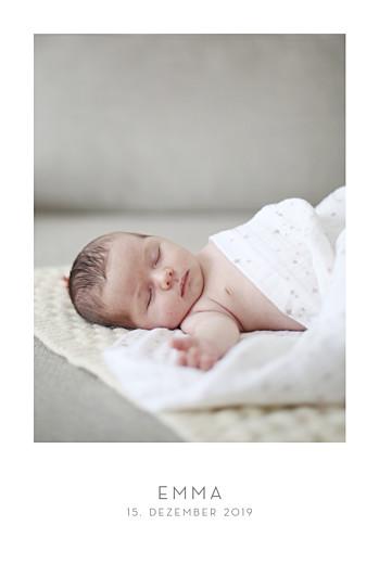 Geburtskarten Elegant 1 foto hochformat