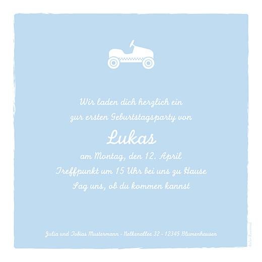 Geburtstagskarten Kinder Auto foto zartblau