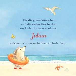 Mini Dankeskarten Kleines sommermärchen blau