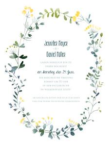 Hochzeitseinladungen gelb wildblumen (hoch) gelb
