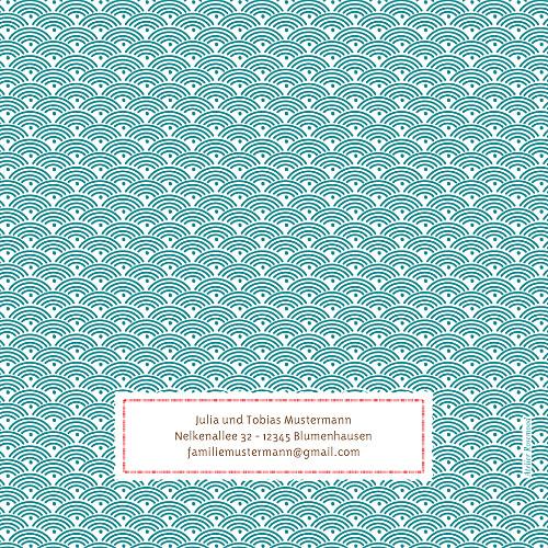 Geburtskarten Pattern fantasie rot - Seite 4