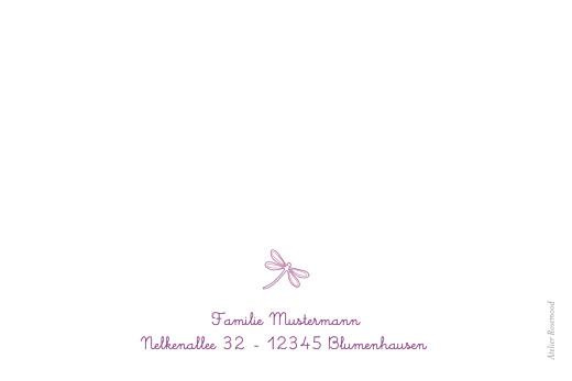 Dankeskarten Libelle violett - Seite 2